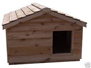 Extra Large Insulated Cedar Cat House - Small Dog House